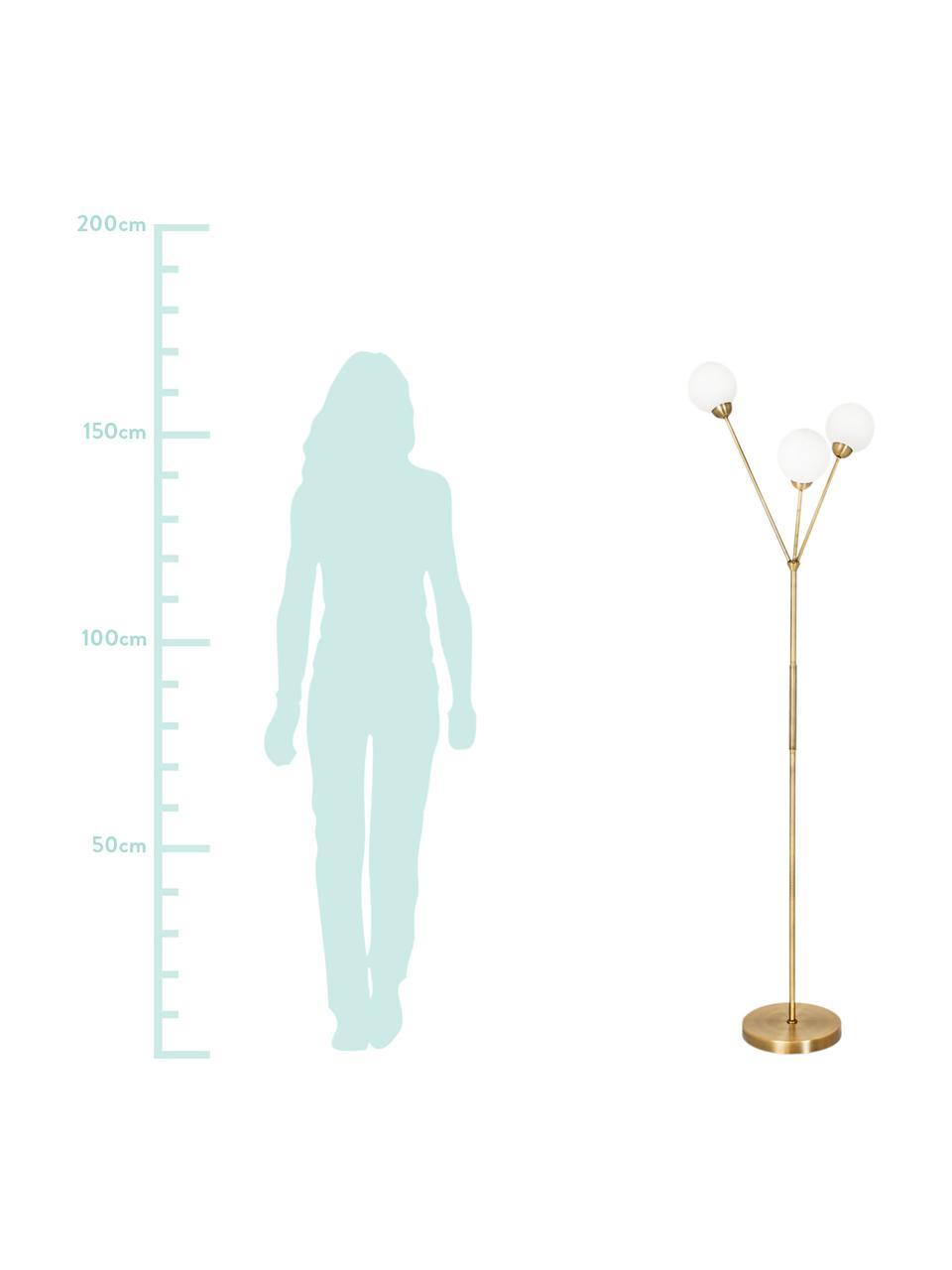 Lampa podłogowa Twiggy, Biały, mosiądz, Ø 43 x W 165 cm