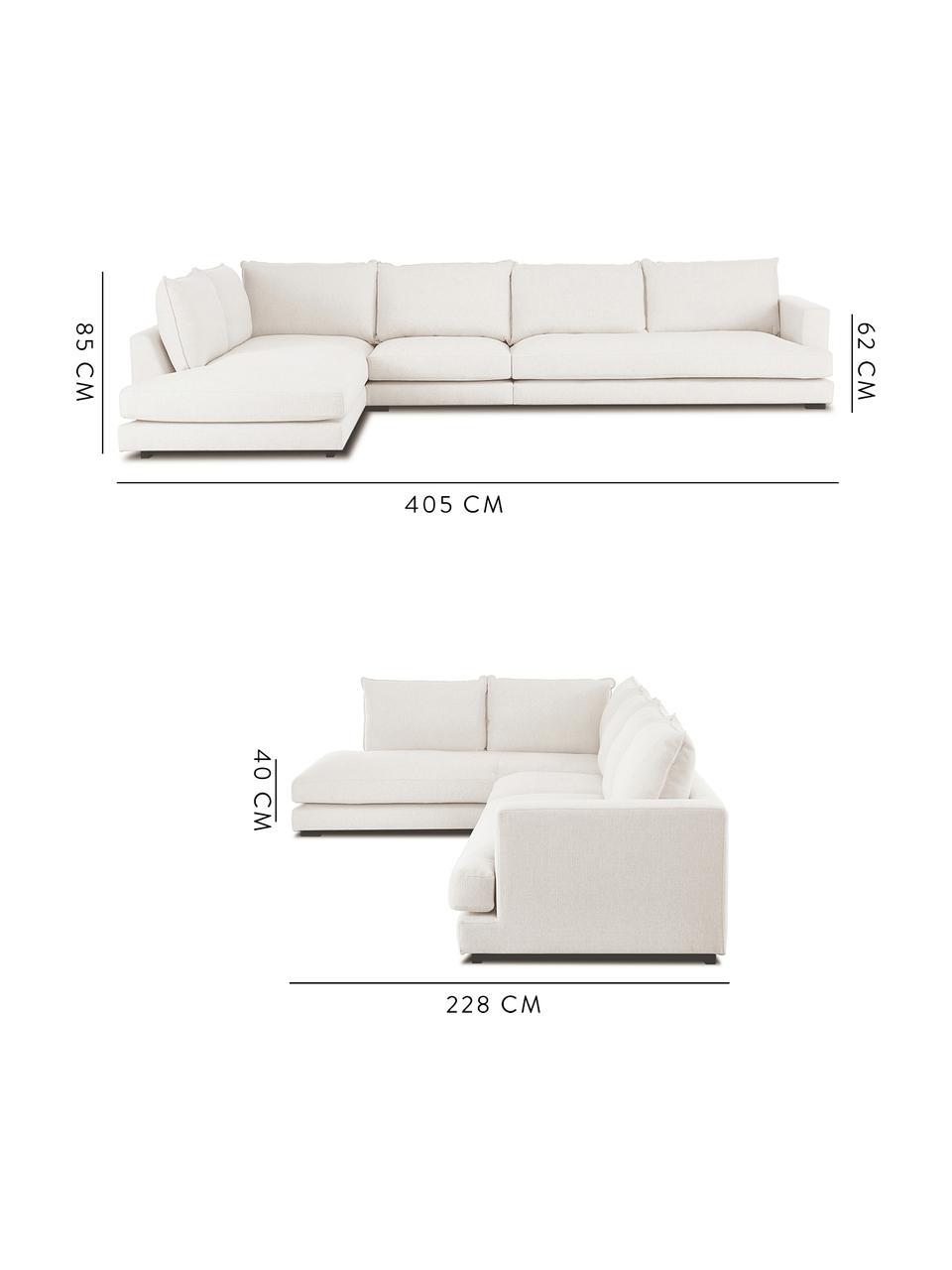 Canapé d'angle XL beigeTribeca, Tissu beige