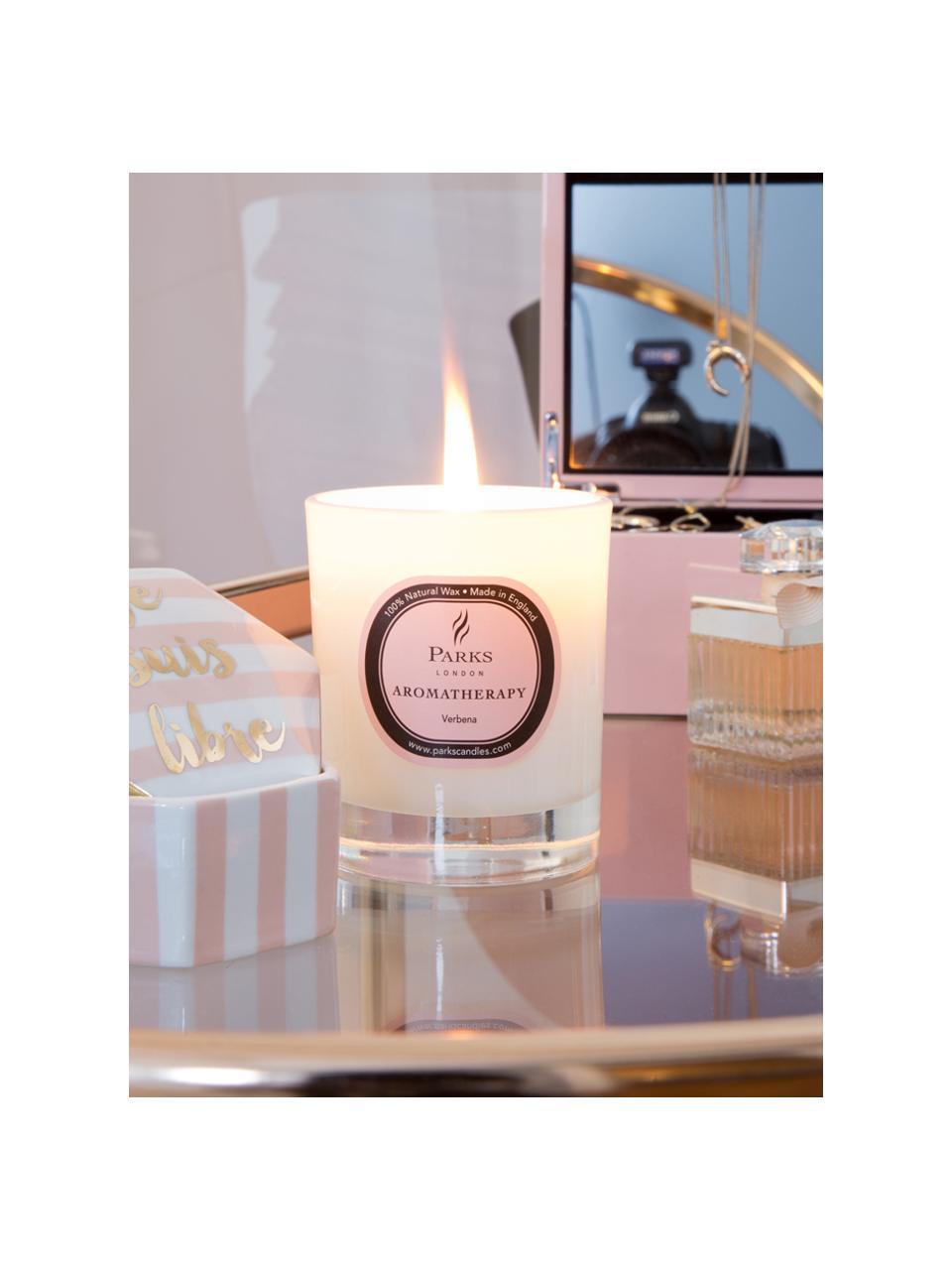 Candela profumata Aromatherapy (rose, fresia & giglio), Contenitore: vetro, Trasparente, bianco, rosato, Ø 8 x Alt. 9 cm