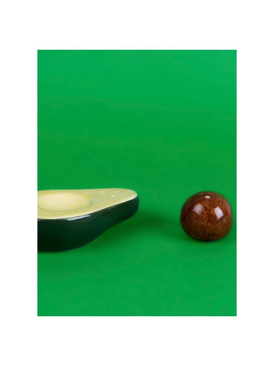 Salière et poivrièreAvocado, 2élém., Vert, jaune, brun