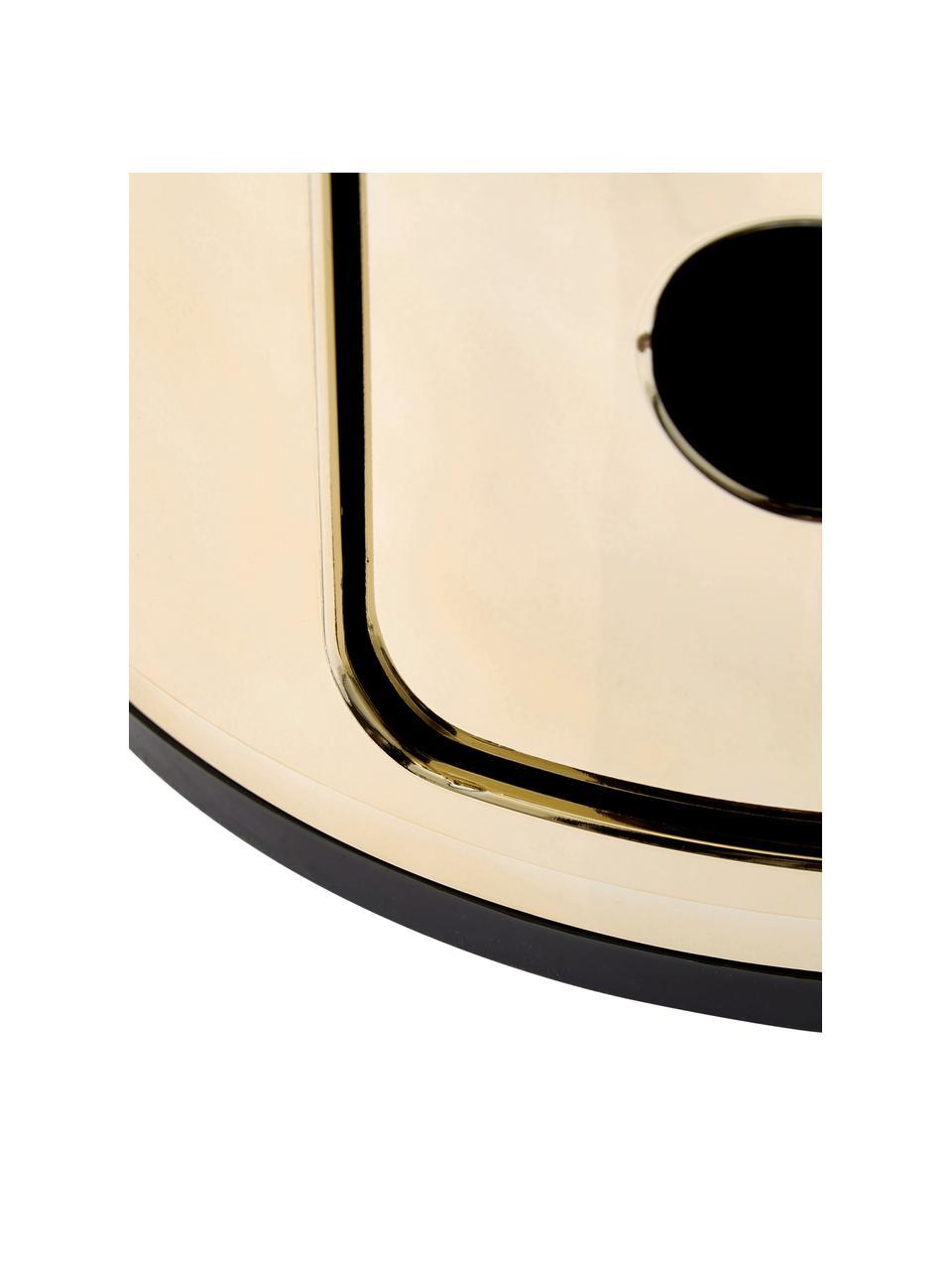 Design bijzettafel Componibile, 3 vakken, Gelakt kunststof (ABS), Koperkleurig, Ø 32 x H 59 cm