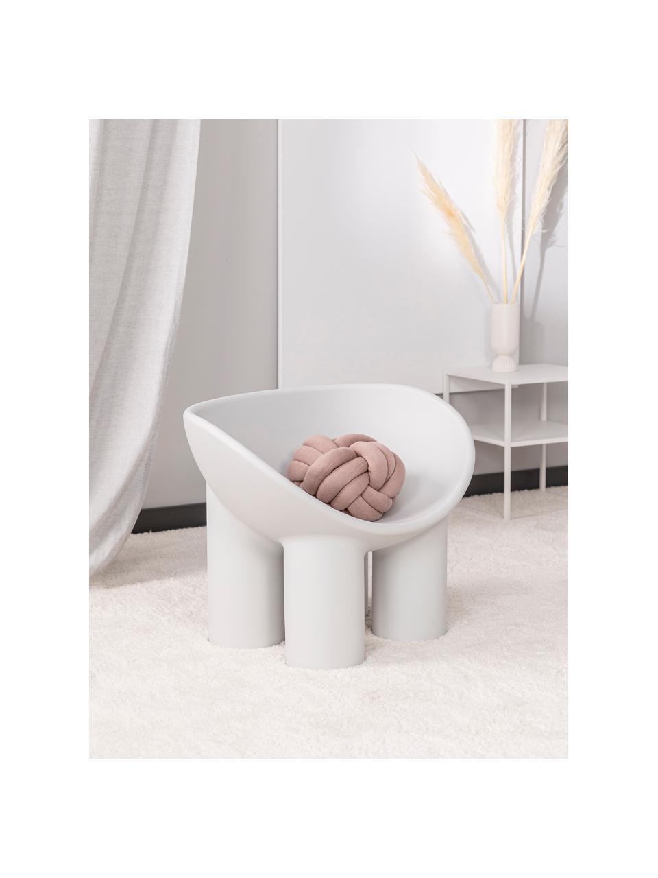 Poltrona di design color grigio chiaro Roly Poly, Polietilene, prodotto in un processo di stampaggio rotazionale, Grigio chiaro, Larg. 84 x Prof. 57 cm