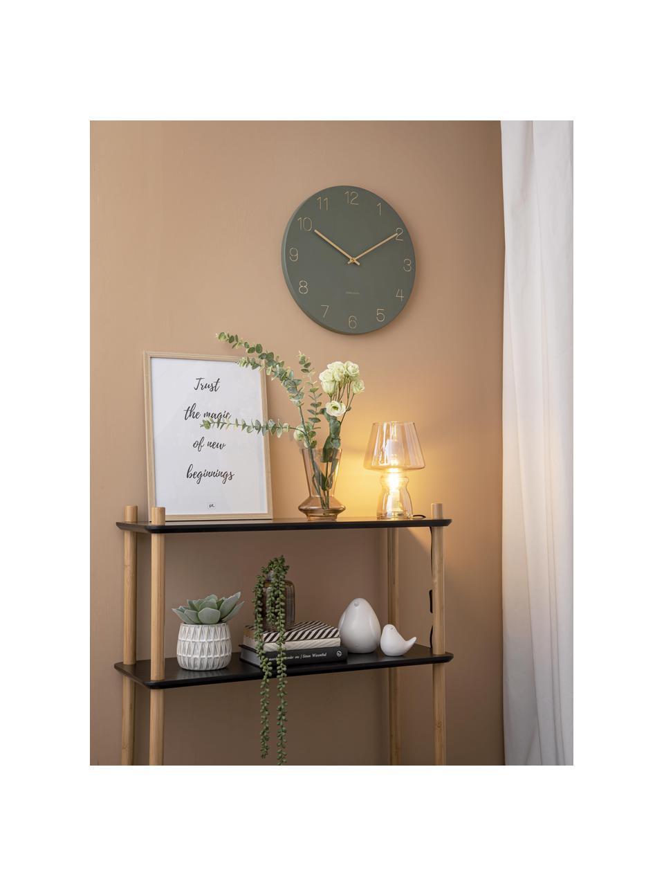 Orologio da parete Charm, Metallo rivestito, Verde, ottonato, Ø 40 cm