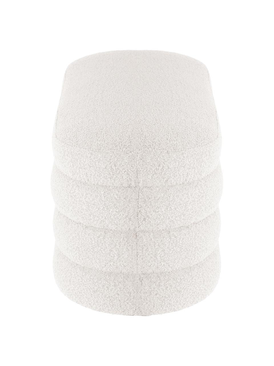 Čalouněná lavice z buklé  Alto, Krémově bílá