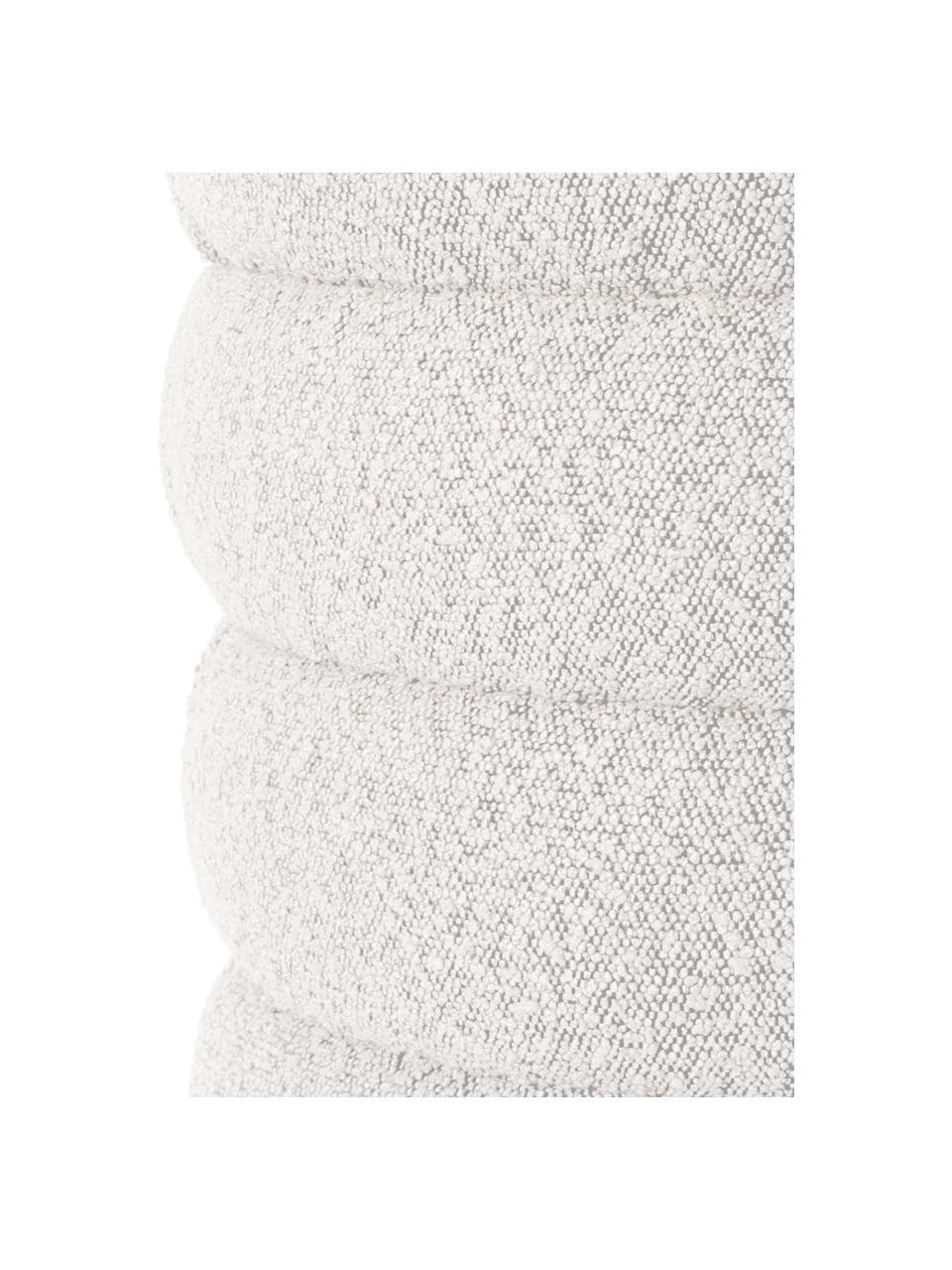 Bouclé bank Alto in crèmewit, Bekleding: bouclé (100% polyester), Frame: massief grenenhout, multi, Bouclé crèmewit, 110 x 47 cm