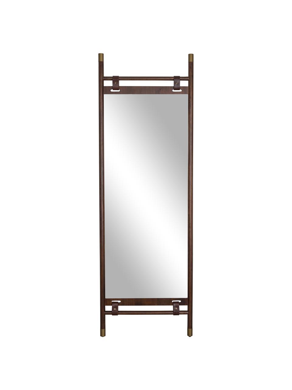 Lustro stojące z drewnianą ramą Riva, Ciemny brązowy, S 60 x W 180 cm