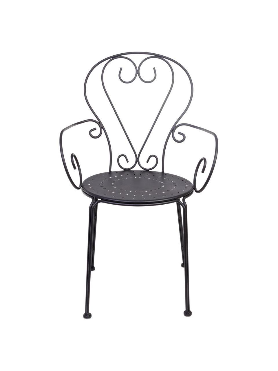 Zahradní židle s područkami Etienne, 2 ks, Tmavě šedá