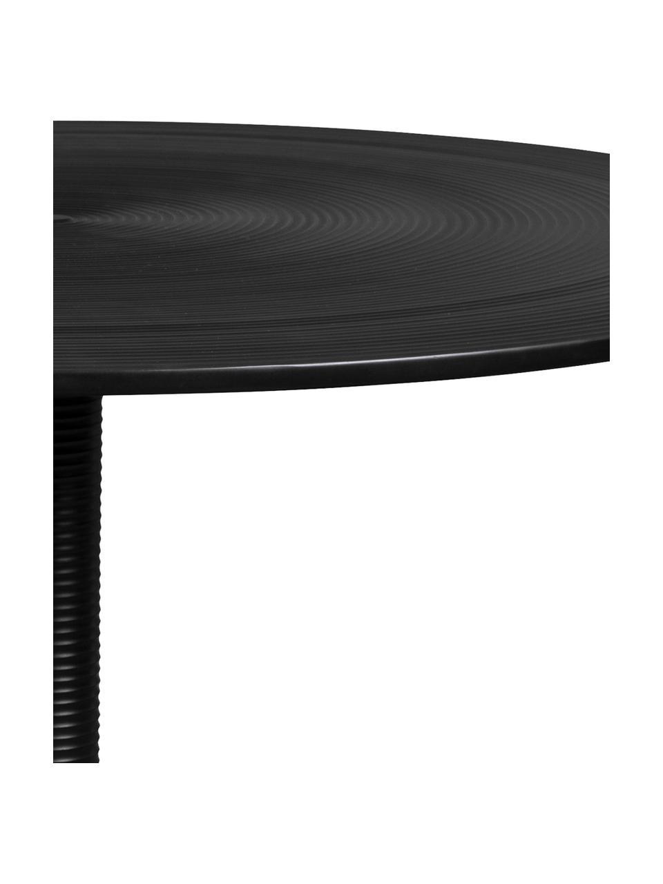 Runder Esstisch Hypnotising in Schwarz, Aluminium, lackiert, Schwarz, Ø 92 x H 76 cm