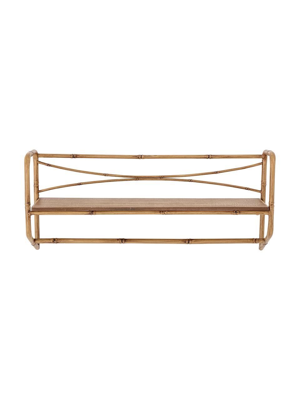 Wandregal Rod, Gestell: Metall, Regalboden: Mitteldichte Holzfaserpla, Braun, 63 x 28 cm