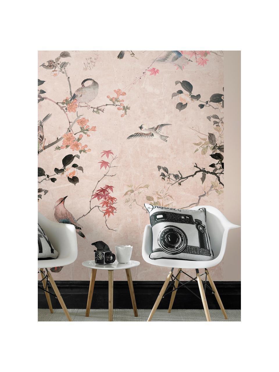 Adesivo murale Japanese Garden, Tessuto non tessuto, Rosa, multicolore, Larg. 200 x Alt. 280 cm