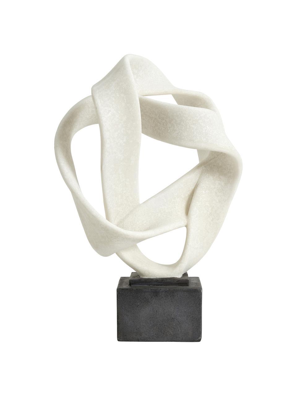 Deko-Objekt Rosala, Kunststoff, Weiß, Schwarz, 22 x 43 cm