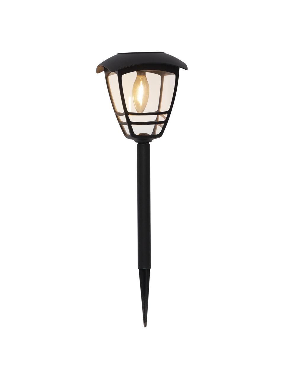 Solarna lampa zewnętrzna Felix, Czarny, Ø 14 x W 45 cm