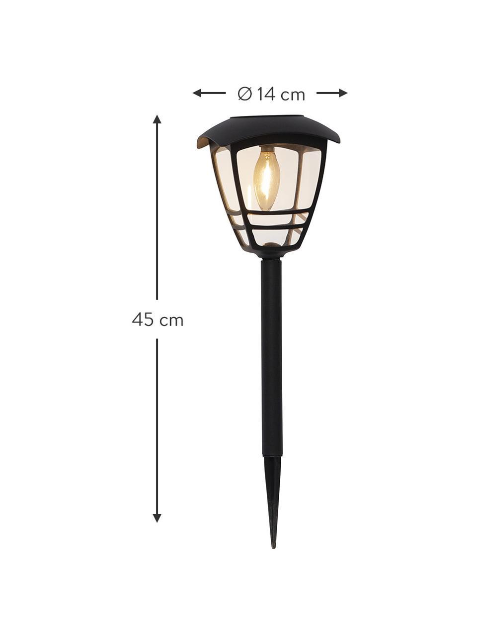Solar Wegeleuchte Felix, Lampenschirm: Acryl, Schwarz, Ø 14 x H 45 cm