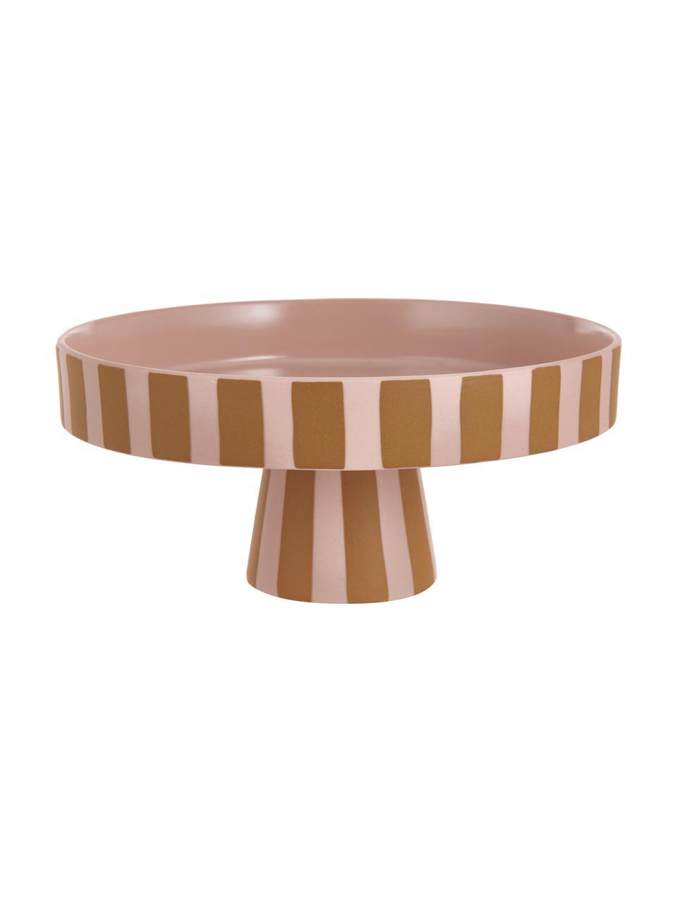 Półmisek z ceramiki Toppu, Ceramika, Karmelowy brązowy, blady różowy, Ø 20 x W 9 cm
