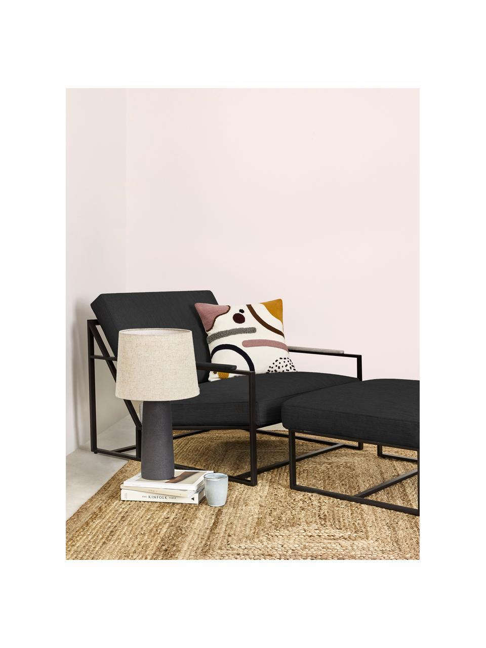 Lounge-Set Andy, 2-tlg. mit Metall-Gestell, Webstoff Anthrazit, Set mit verschiedenen Größen