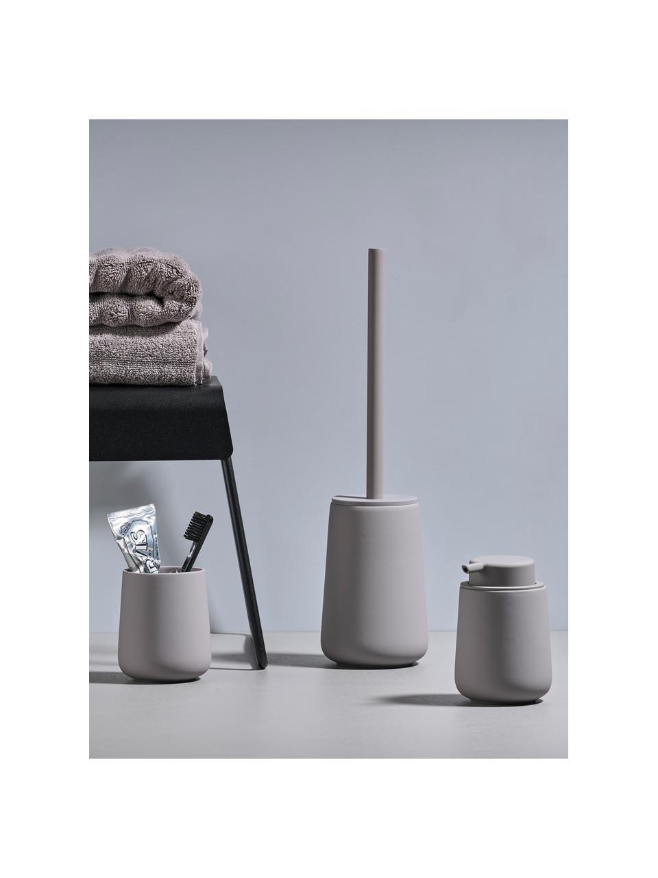Kubek na szczoteczki z porcelany Nova One, Porcelana, Szary, Ø 8 x W 10 cm