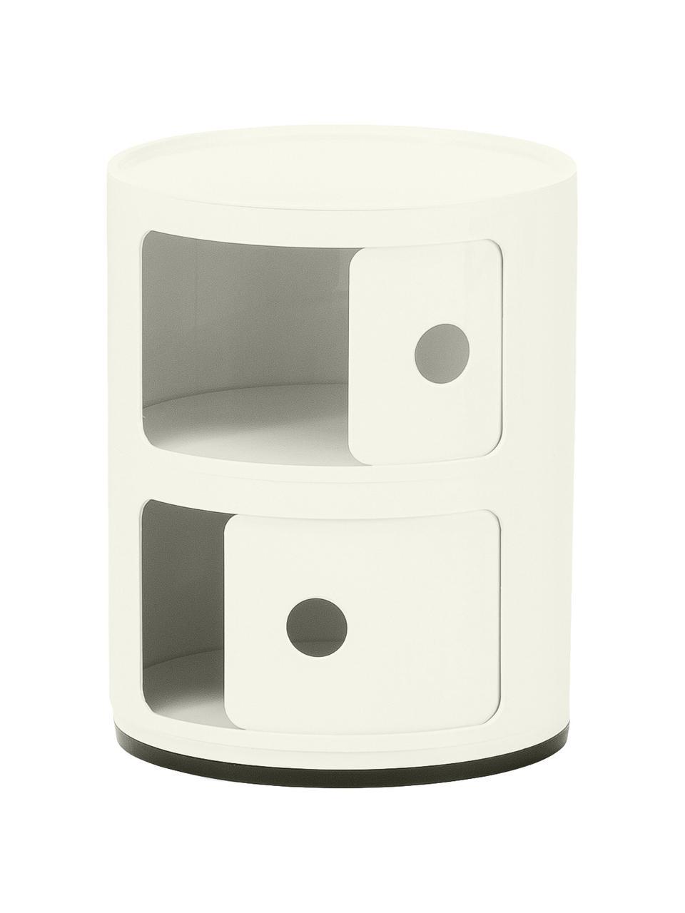 Design bijzettafel Componibile, 3 vakken, Gelakt kunststof (ABS), Wit, Ø 32 x H 40 cm
