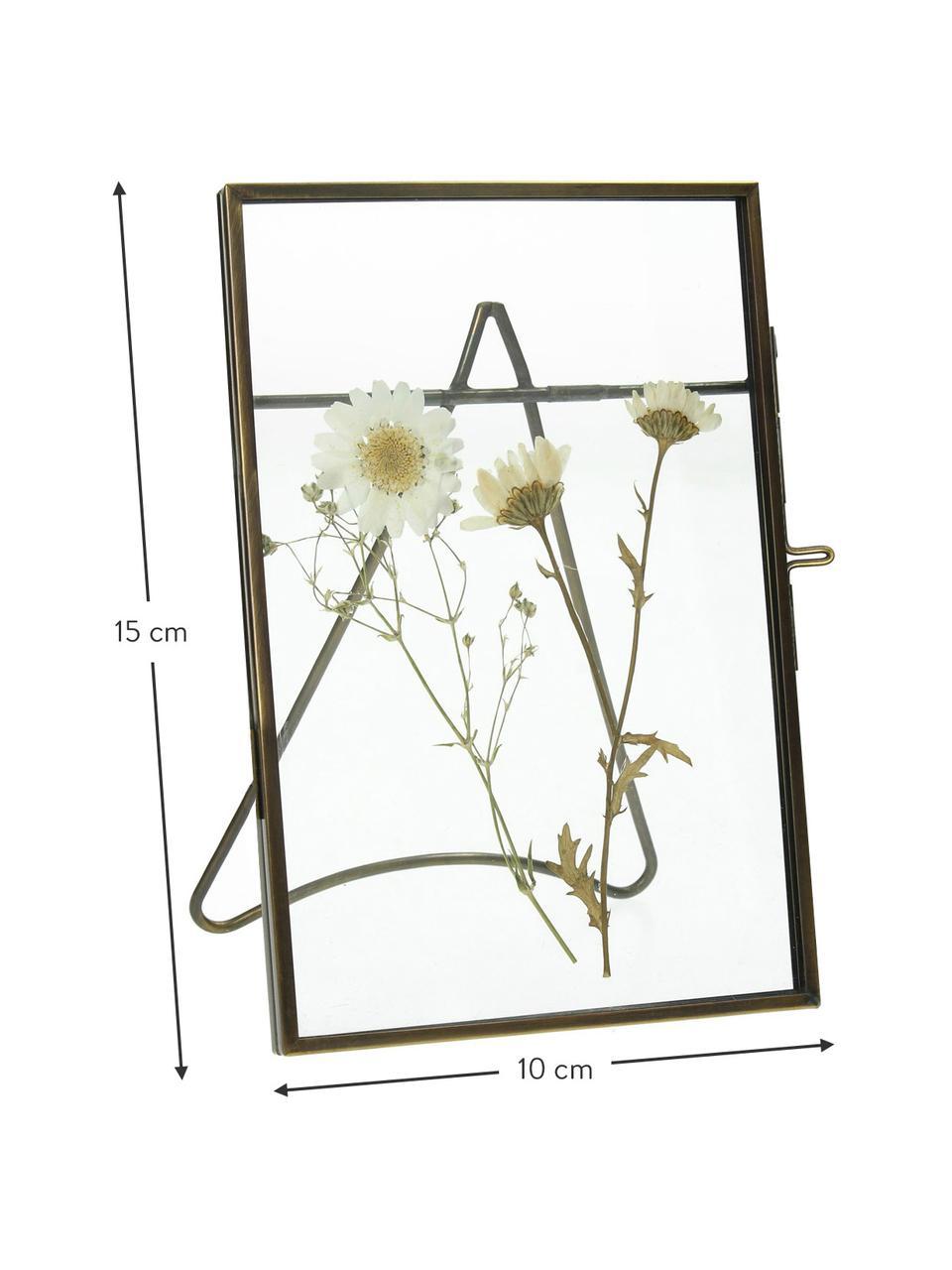 Bilderrahmen Dried Flower, Metall, beschichtet, Messingfarben, 10 x 15 cm