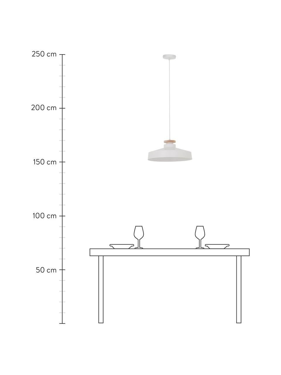 Lampa wisząca scandi Malm, Biały, Ø 40 x W 20 cm