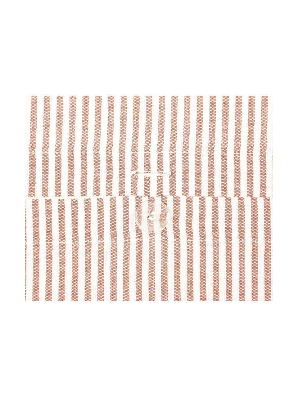 Baumwoll-Kopfkissenbezüge Ellie in Weiß/Rot, fein gestreift, 2 Stück, Webart: Renforcé Fadendichte 118 , Weiß, Rot, 40 x 80 cm