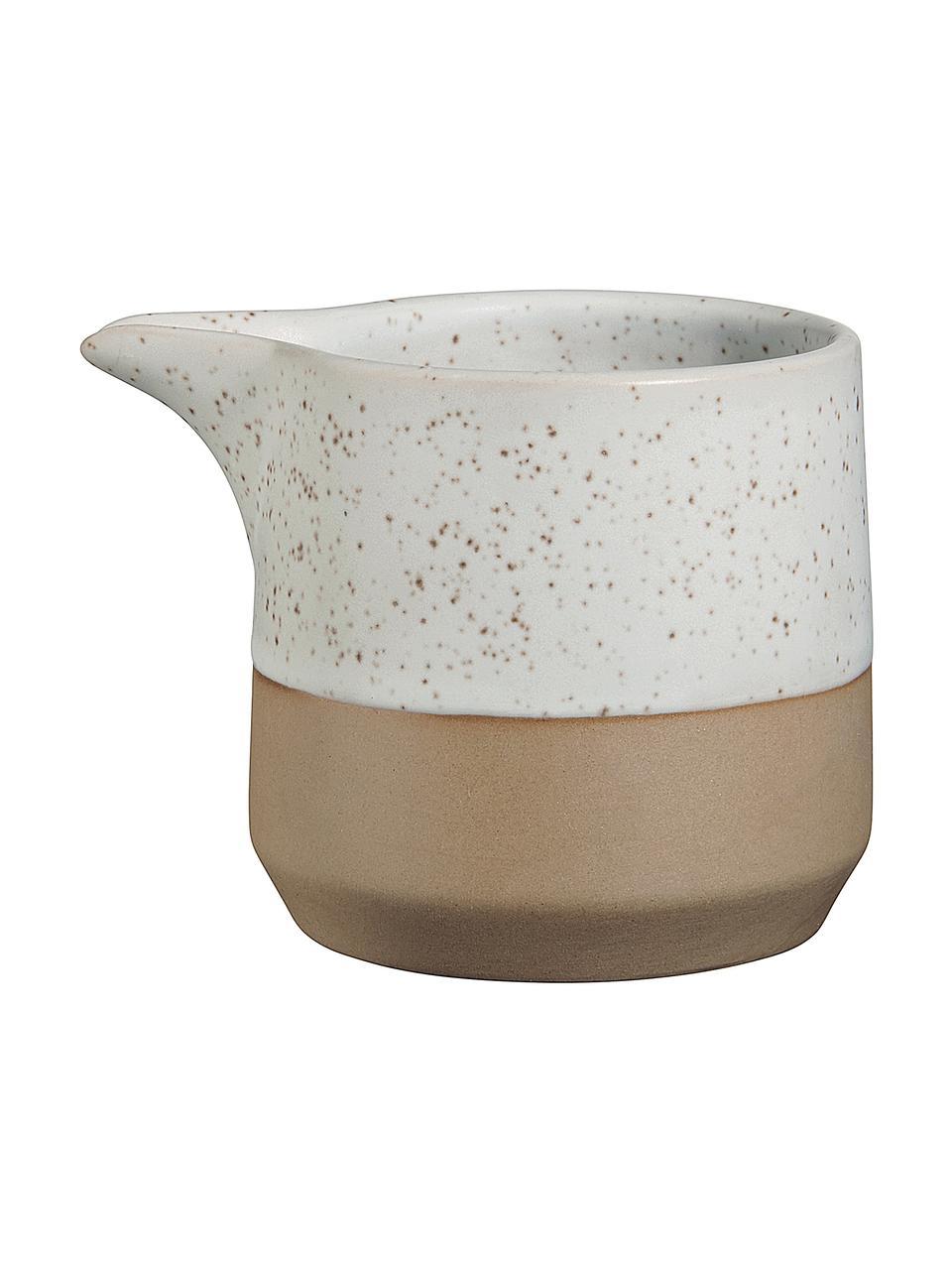 Dzbanek do mleka Caja, Kamionka, Beżowy, brązowy, Ø 9 x W 7 cm