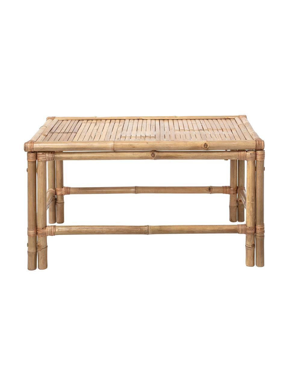 Bambus-Couchtisch Sole, Bambus, Beige, 90 x 50 cm