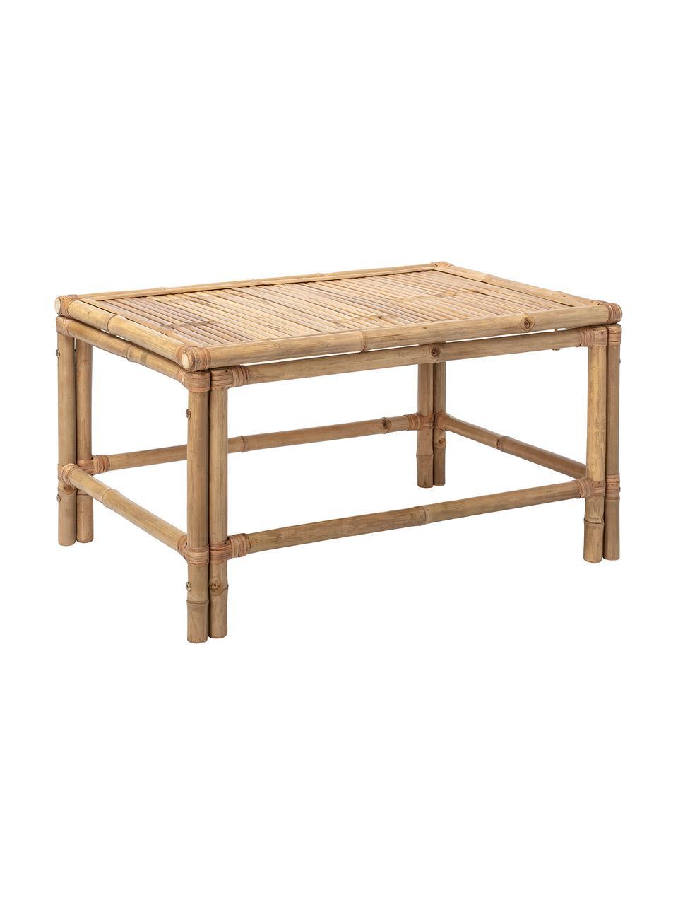 Tavolino da salotto in bambù Sole, Bambù, Beige, Larg. 90 x Alt. 50 cm