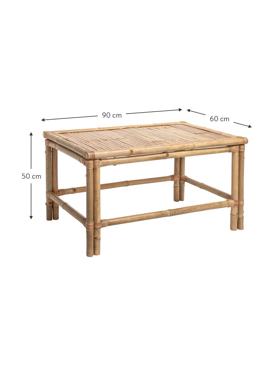 Stolik kawowy z bambusa Sole, Drewno bambusowe, Beżowy, S 90 x W 50 cm
