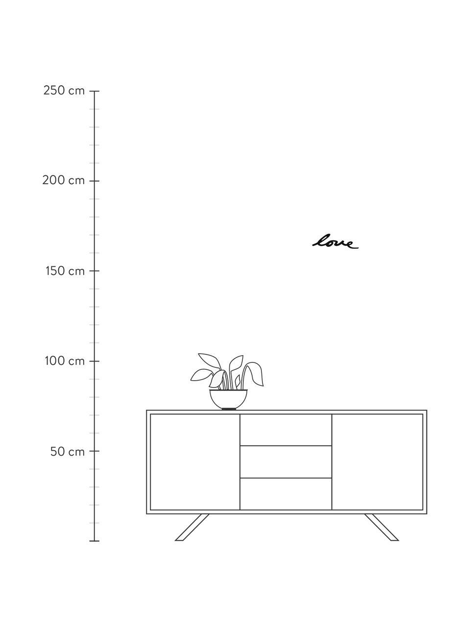 Wandschmuck-Set Mantra aus lackiertem Stahl, 8-tlg., Stahl, lackiert, Schwarz, Sondergrößen