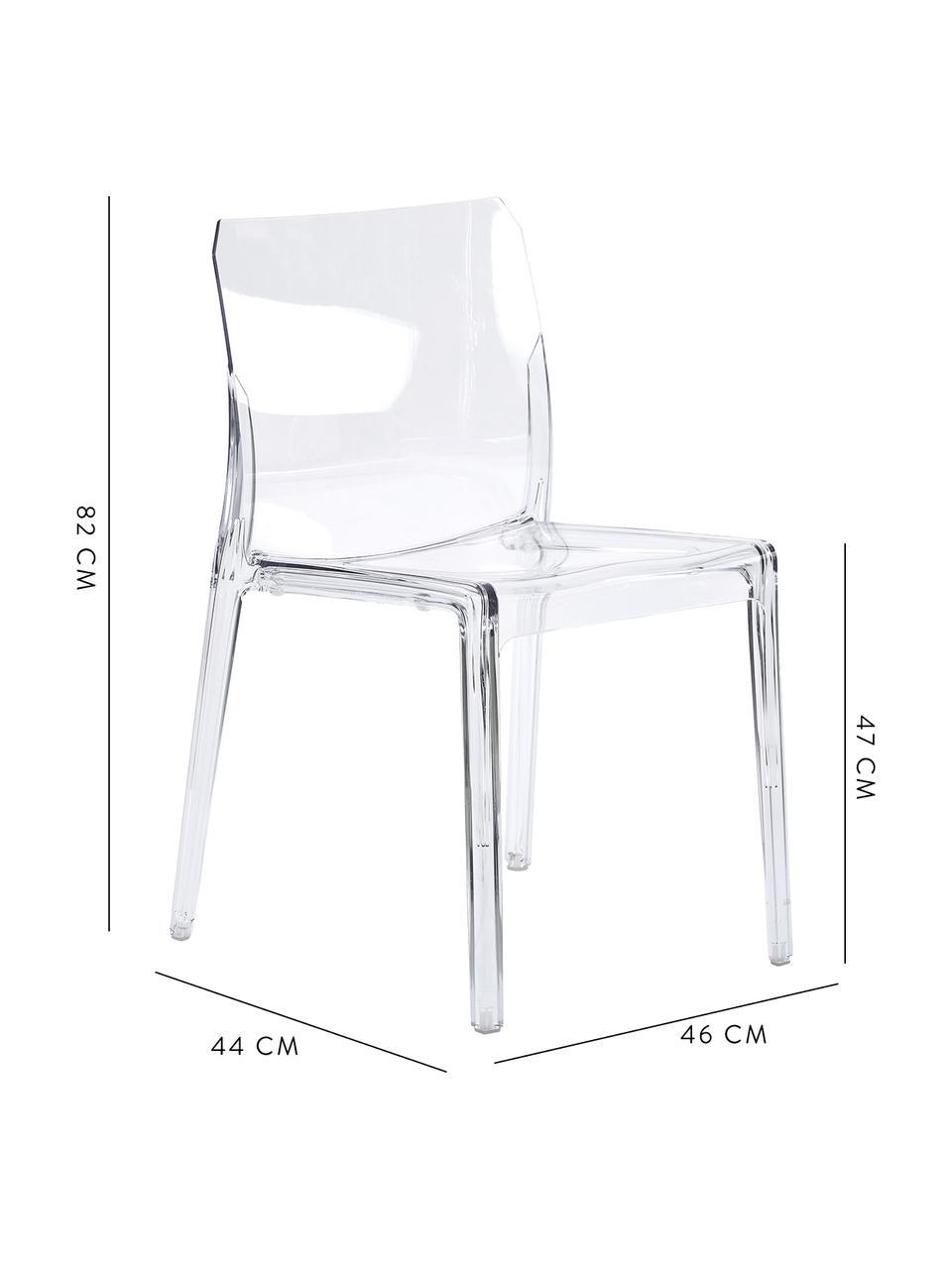 Průhledná židle zumělé hmoty Mia, Transparentní