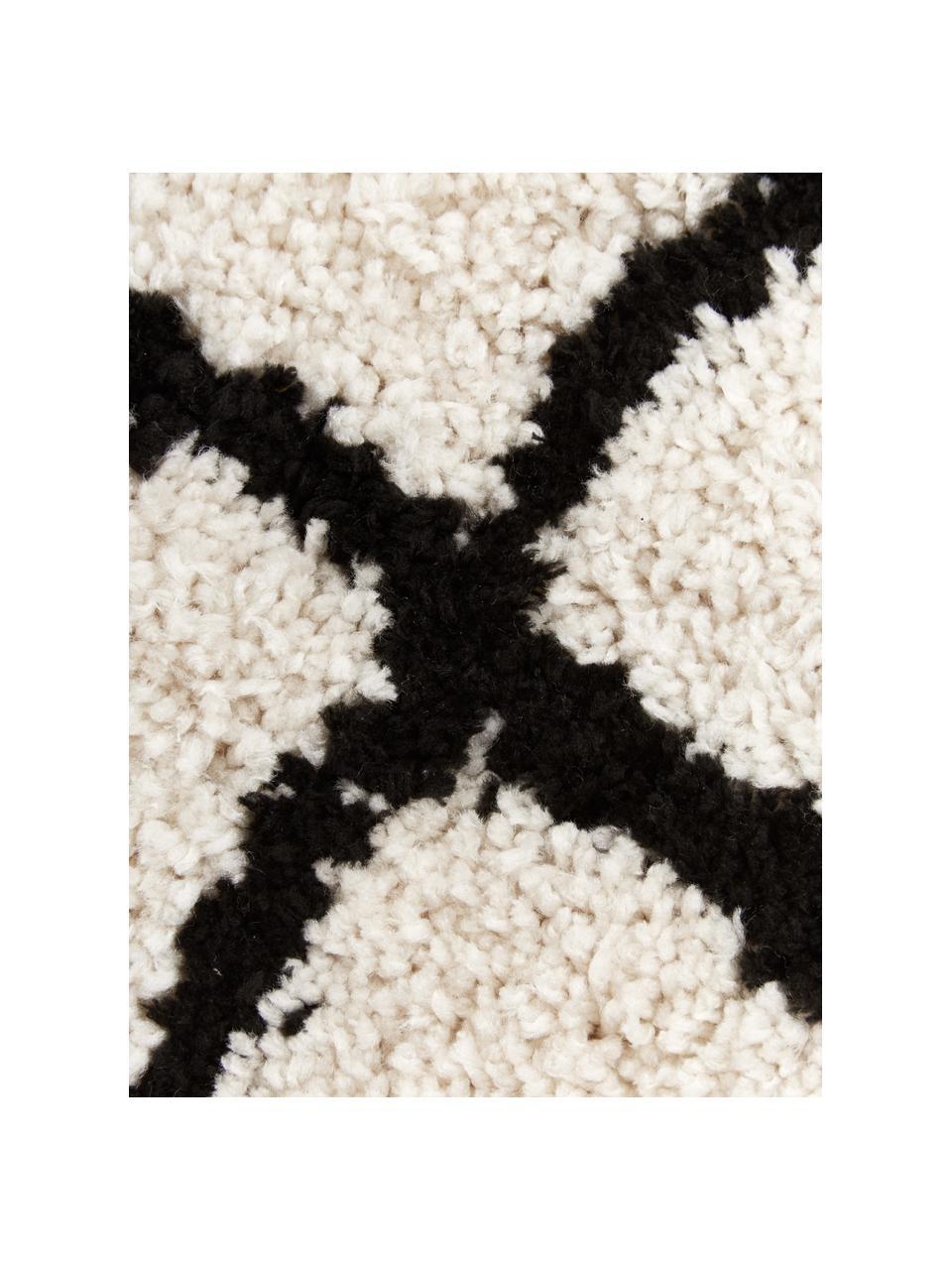 Federa arredo color beige/nero Naima, Retro: 100% cotone, Beige, nero, Larg. 45 x Lung.45 cm
