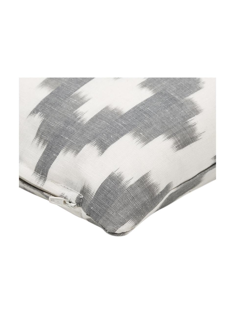 Kissenhülle Boho Bash mit Ikat-Muster, Grau, 40 x 40 cm
