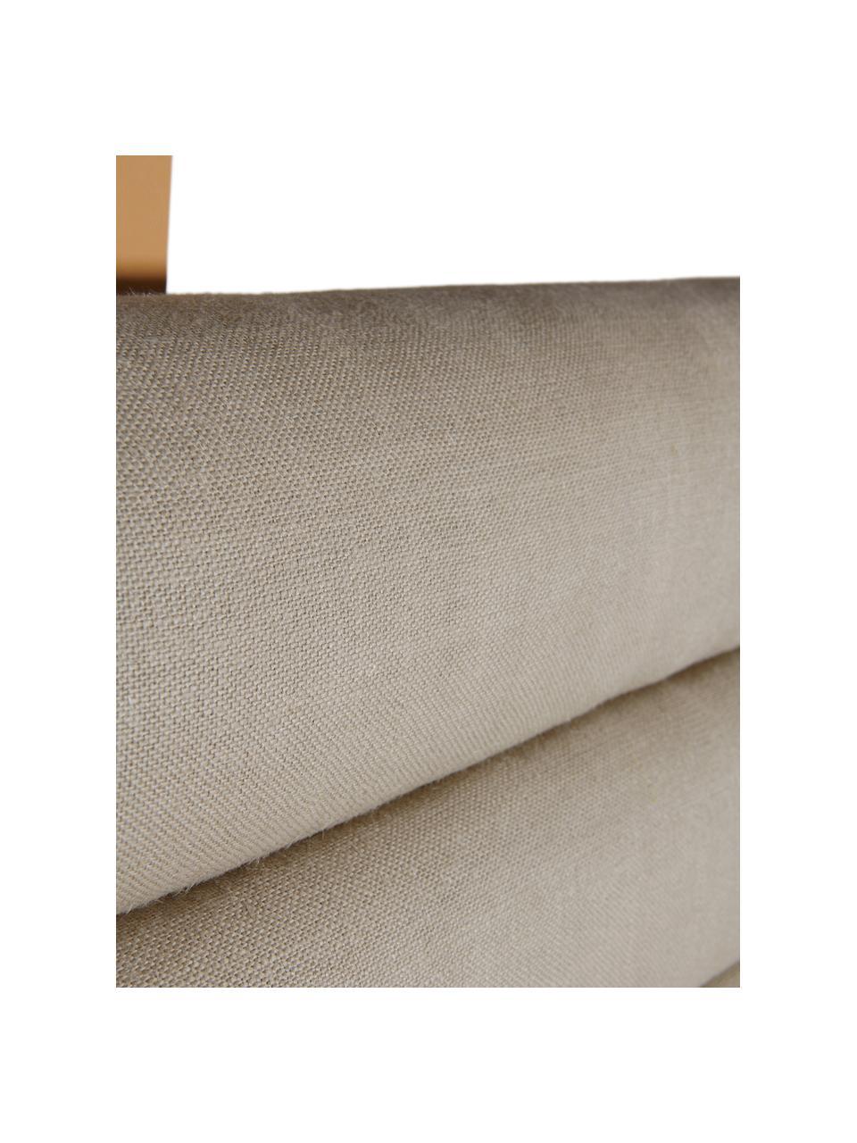 Zagłówek tapicerowany Amsterdam, Tapicerka: 100% len, Stelaż: sklejka, Beżowy, S 120 x W 60 cm