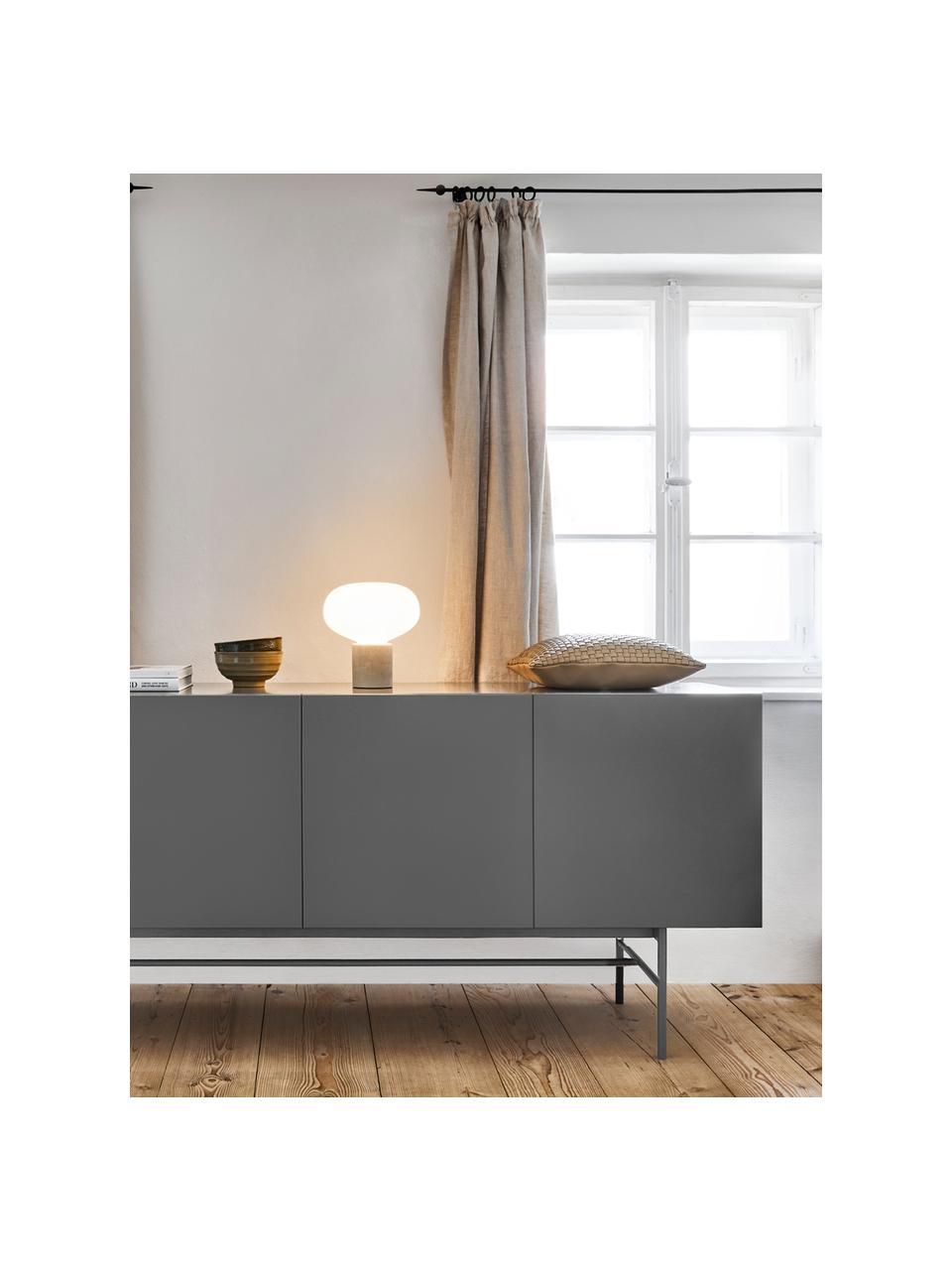 Credenza moderna grigia Anders, Piedini: metallo verniciato a polv, Corpo: grigio piedini: grigio, opaco, Larg. 160 x Alt. 80 cm