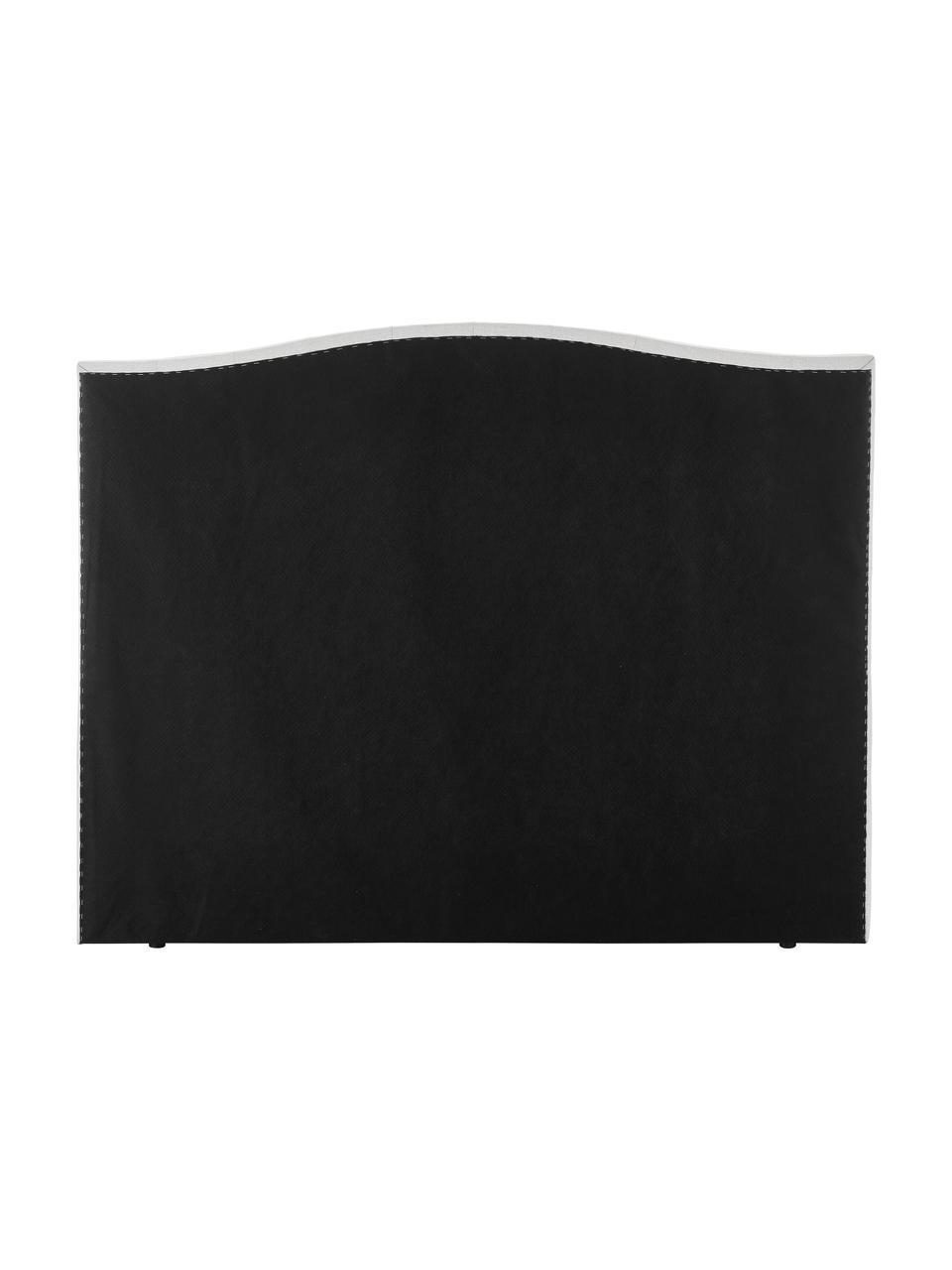 Letto Boxspring bianco-grigio con contenitore Premium Royal, Materasso: nucleo a 5 zone di molle , Piedini: legno di betulla massicci, Tessuto bianco-grigio chiaro, 200 x 200 cm
