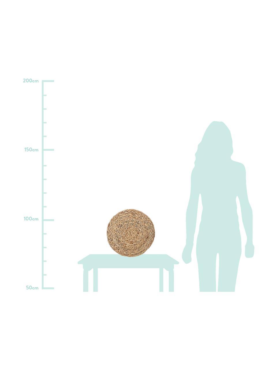 Okrągła podkładka Wanda, 4 szt., Hiacynt wodny, Beżowy, Ø 35 cm