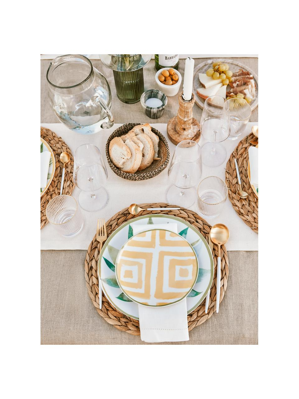 Runde Tischsets Wanda aus Wasserhyazinthe, 4 Stück, Wasserhyazinthe, Beige, Ø 35 cm