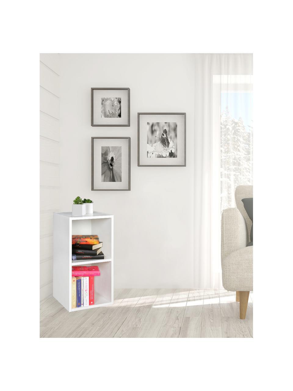 Klein wandrek Milo in wit mat, Melamine gecoate spaanplaat, Wit, B 30 x D 60 cm