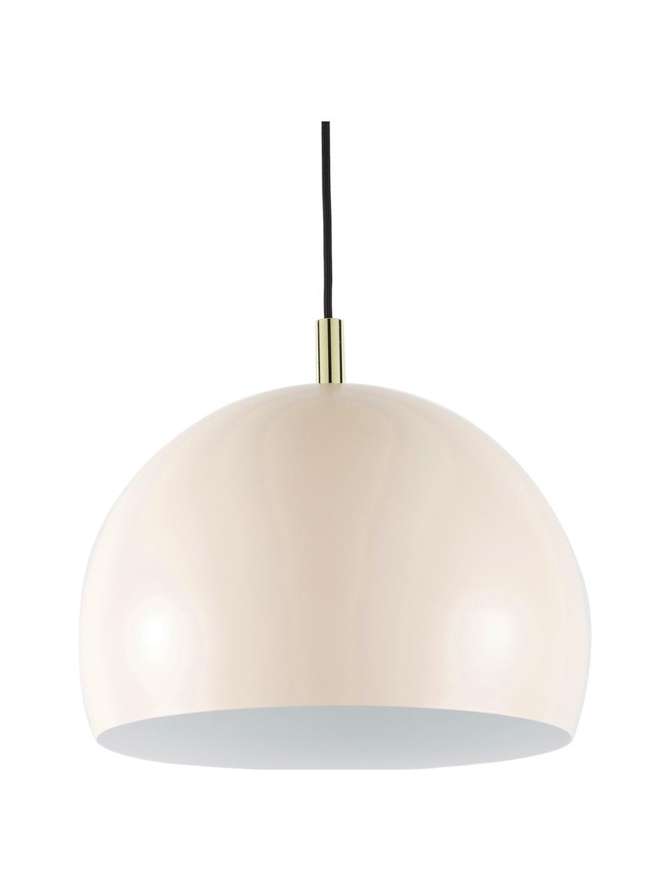 Lámpara de techo Wilma, Pantalla: metal con pintura en polv, Anclaje: metal con pintura en polv, Cable: cubierto en tela, Rosa, Ø 33 x Al 25 cm