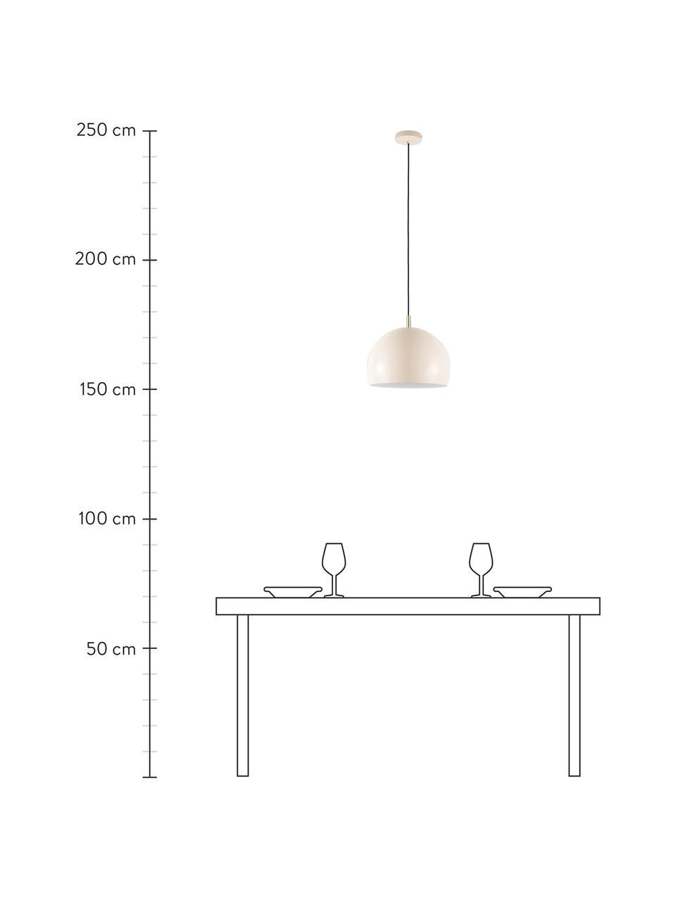 Lampada a sospensione in metallo Wilma, Baldacchino: metallo verniciato a polv, Paralume: metallo verniciato a polv, Rosa, Ø 33 x Alt. 25 cm