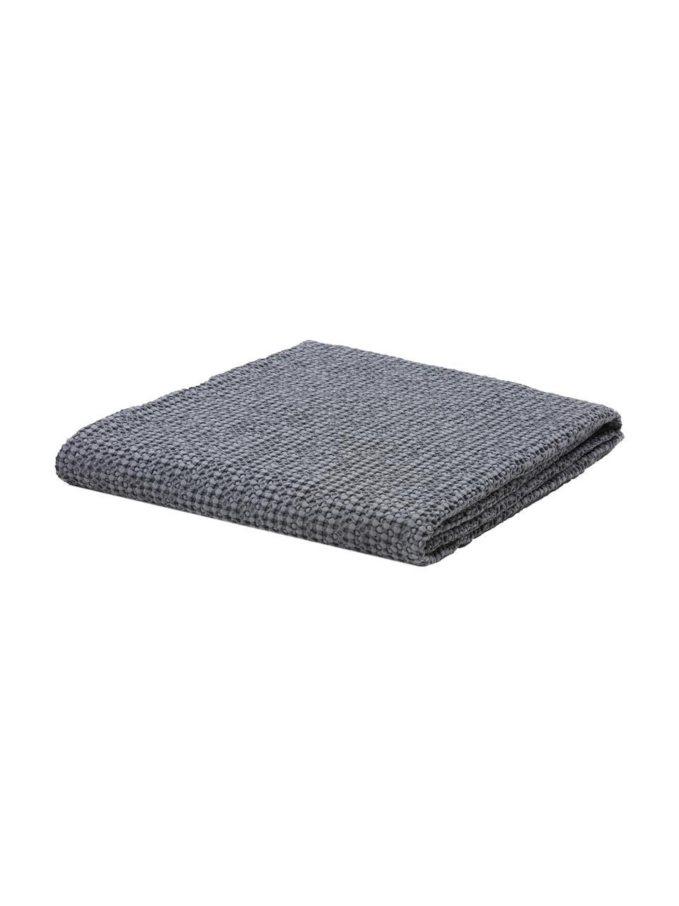 Narzuta ze strukturalną powierzchnią Vigo, 100% bawełna, Ciemny niebieski, 220 x 240 cm (do łóżek od 160 x 200)