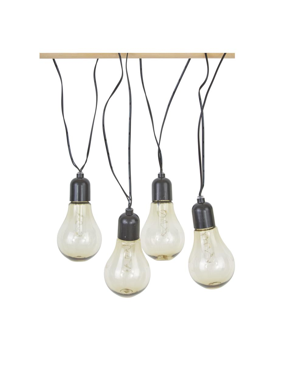 Ghirlanda a LED Glow, 505 cm, 10 lampioni, Trasparente, nero, Lung. 505 cm