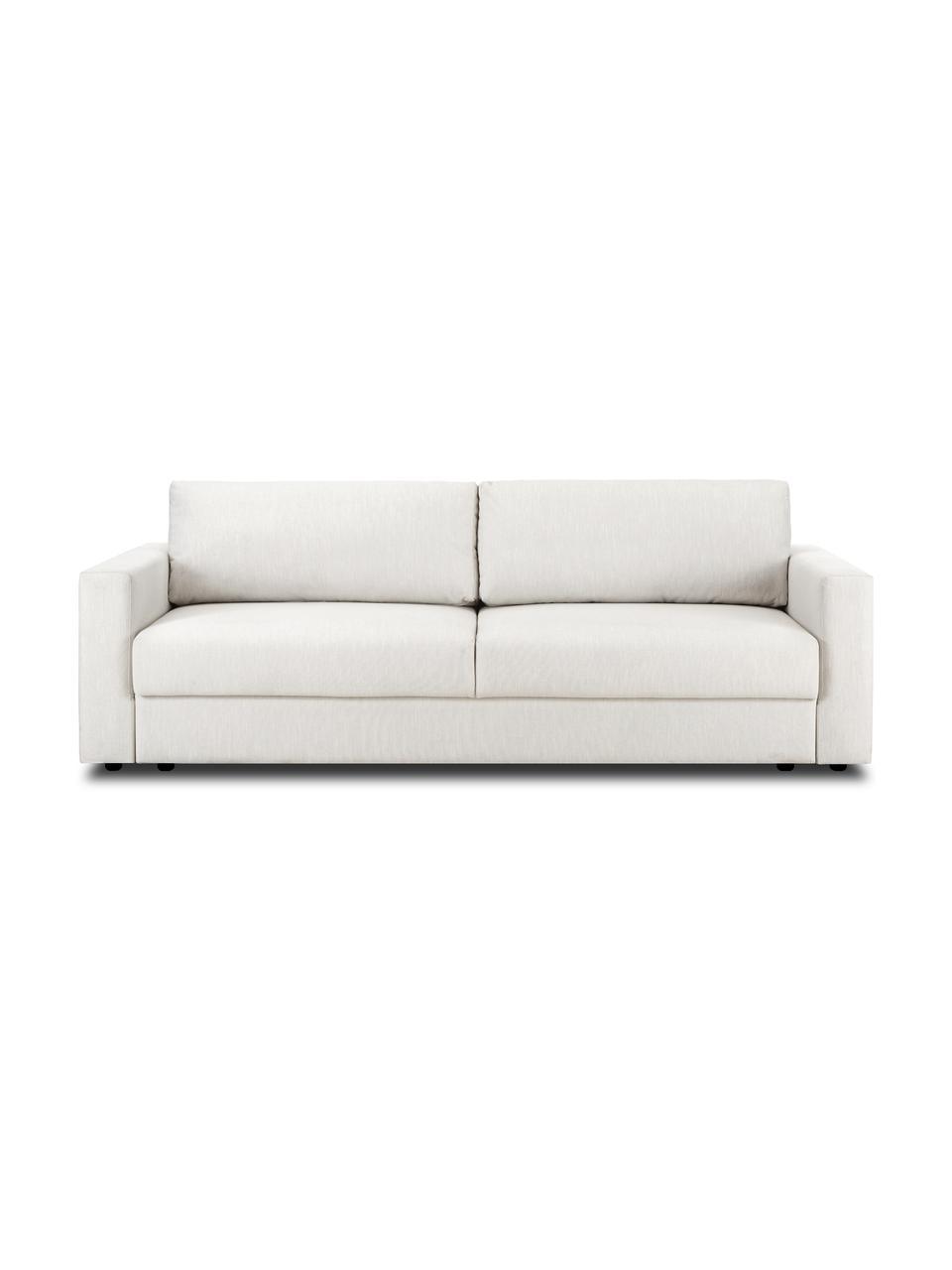 Slaapbank Tasha in beige, Bekleding: 100% polyester, Poten: massief grenenhout, multi, Poten: kunststof, Geweven stof beige, 235 x 100 cm