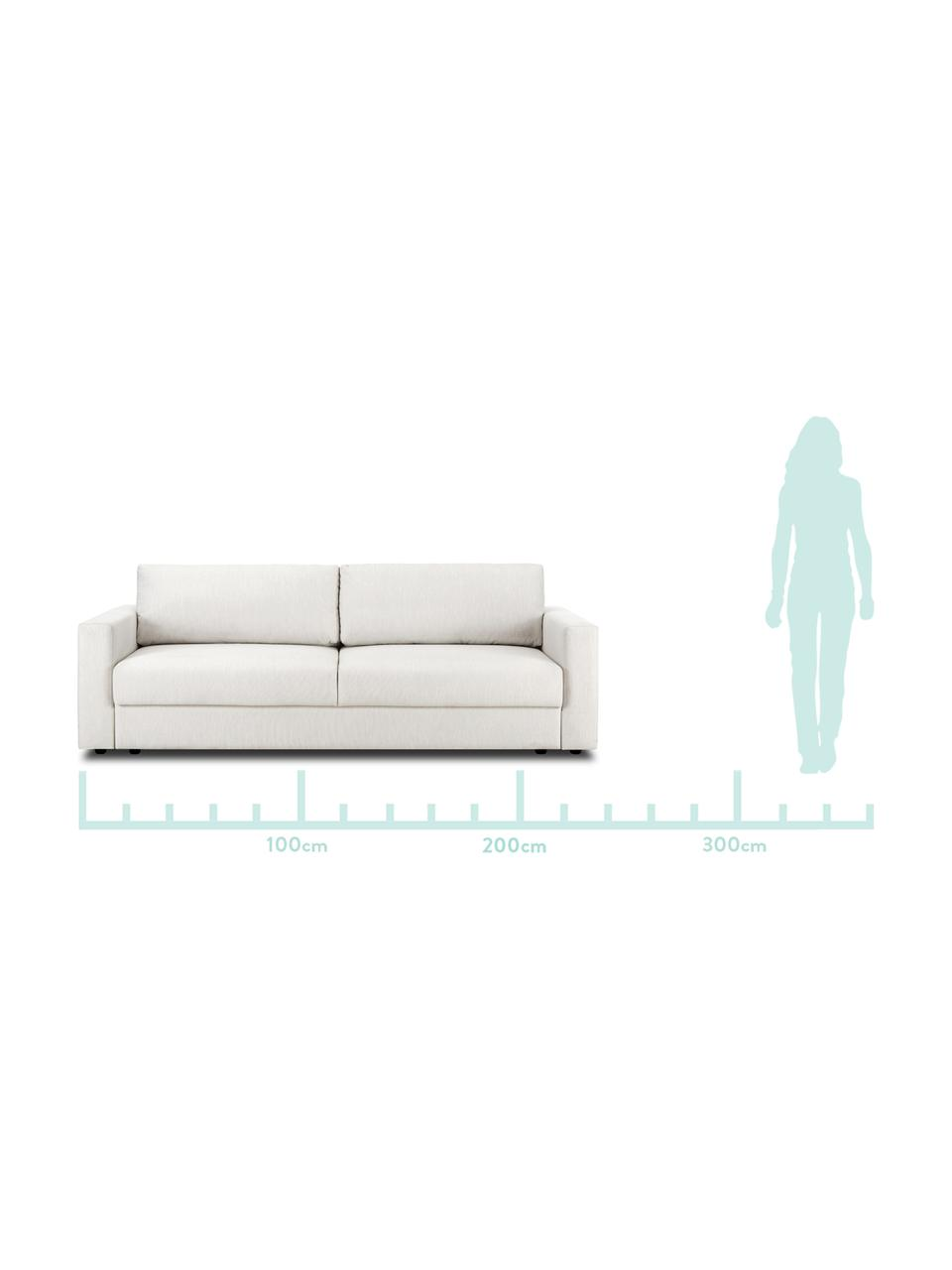 Schlafsofa Tasha in Beige, Bezug: 100% Polyester Der hochwe, Füße: Massives Kiefernholz, Spe, Füße: Kunststoff, Webstoff Beige, B 235 x T 100 cm