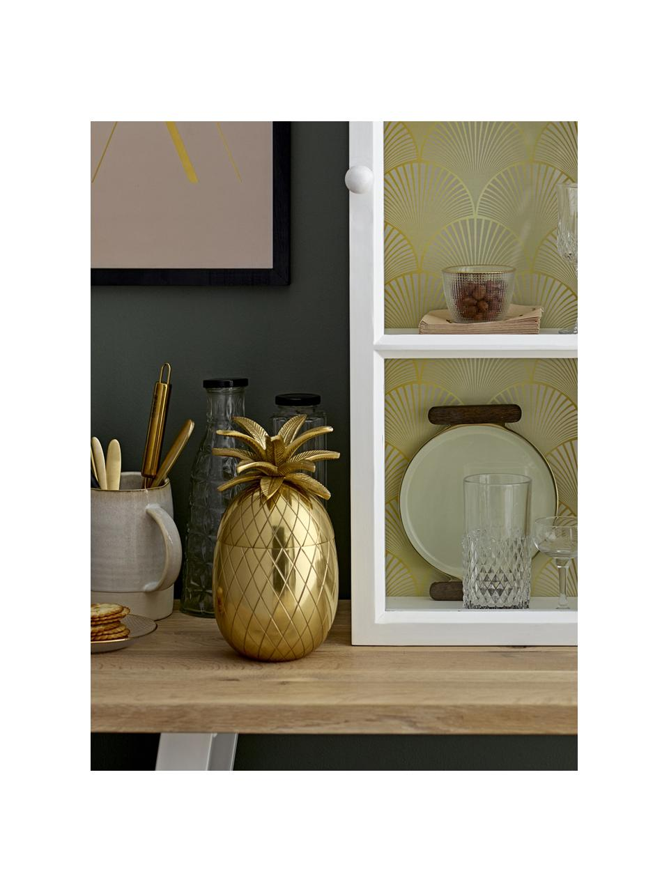 Kleine ijsemmer Pineapple in goudkleur, Aluminium, Goudkleurig, Ø 13 x H 24 cm