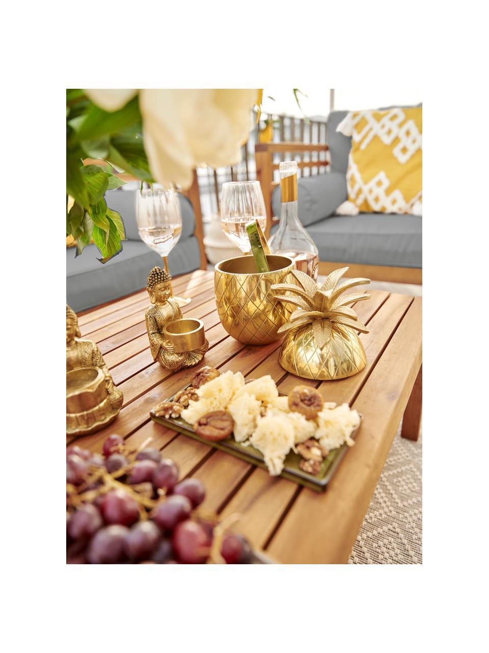 Secchiello per ghiaccio dorato Pineapple, Alluminio, Dorato, Ø 13 x Alt. 24 cm