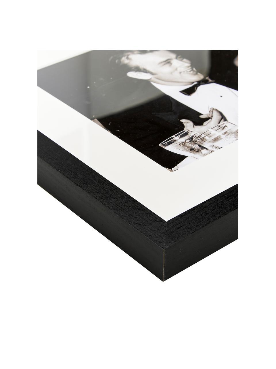 Gerahmter Fotodruck Pier Angeli und James Dean, Bild: Digitaldruck auf Papier, Rahmen: Buchenholz, lackiert, Ple, Bild: Sepia Rahmen: Schwarz, 43 x 33 cm