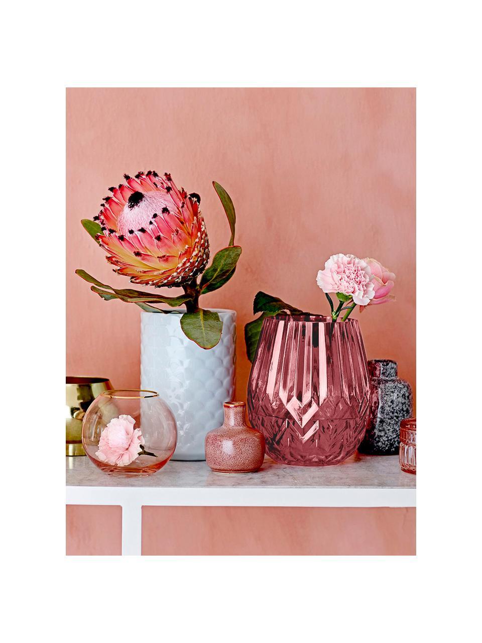 Wazon Luna, Szkło, Blady różowy, Ø 14 x 17 cm