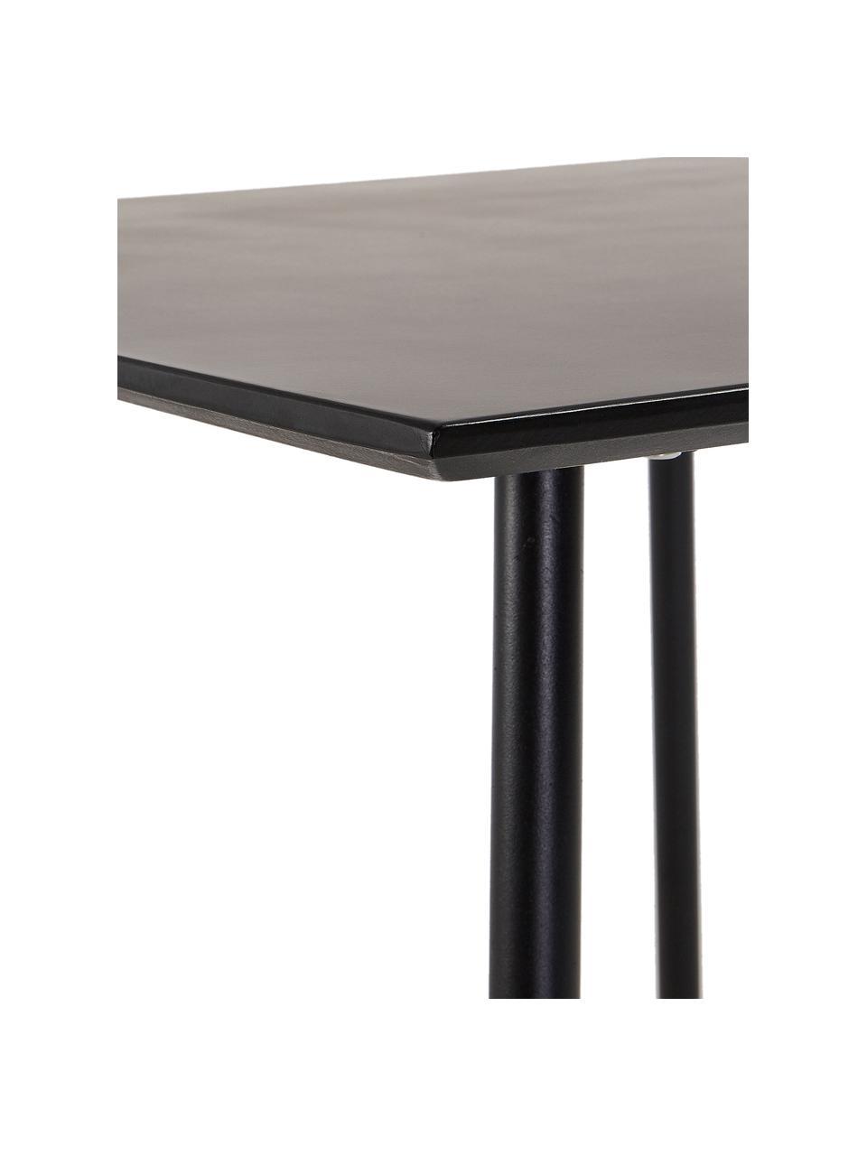 Esstisch Mathis, 75 x 75 cm, Tischplatte: Verzinkte Stahl- und Zeme, Beine: Metall, Pulverbeschichtet, Schwarz, 75 x 75 cm
