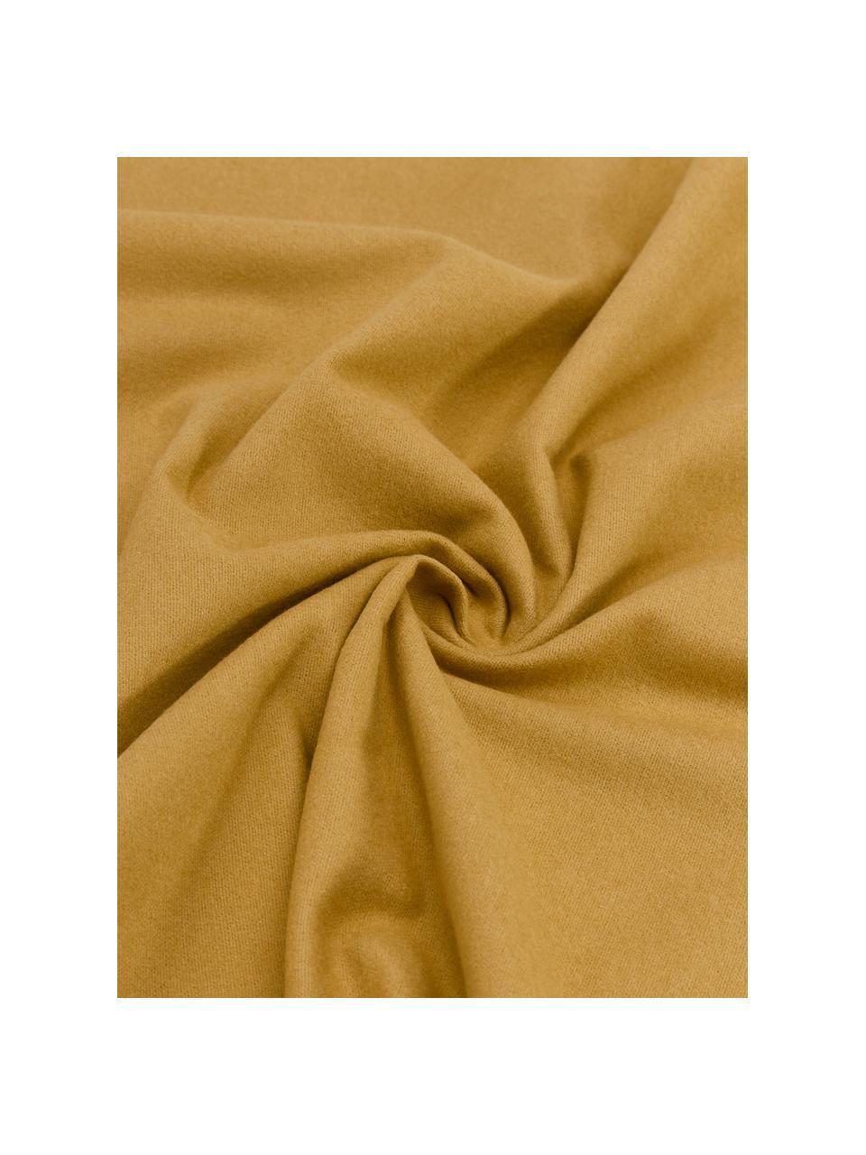 Pościel z flaneli Biba, Żółty, 135 x 200 cm + 1 poduszka 80 x 80 cm